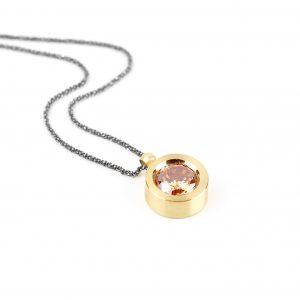 KSN76/Z srebro złocone, cyrkonia w kolorze szampana. Cena: 320 zł