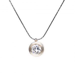 KSN76/S srebro, klasyczna biała cyrkonia - cena: 295 zł